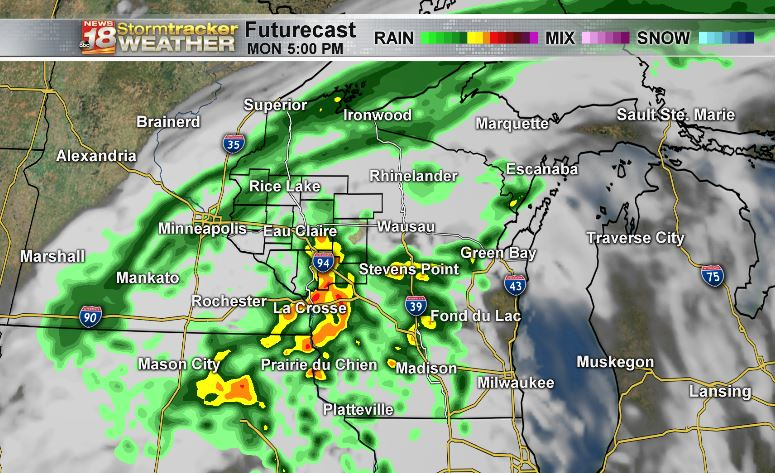 Outlook: Showers and isolated thunderstorms likely on Monday