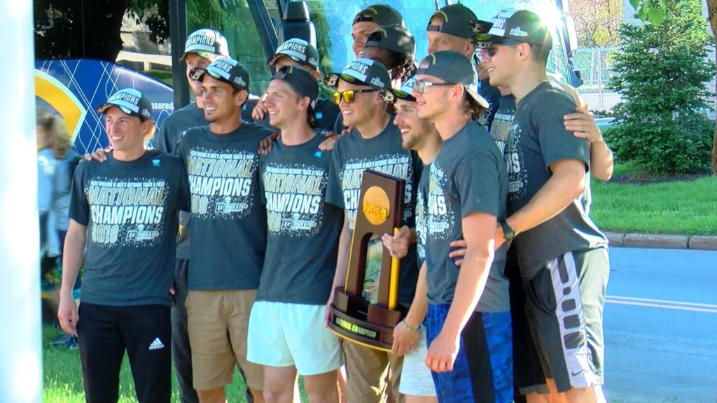 Blugolds Men's Track and Field Team Come Back to Eau Claire as National Champions