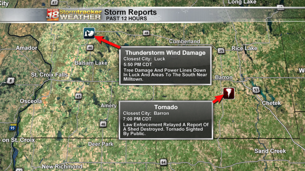 Possible tornado and straight line wind gusts responsible