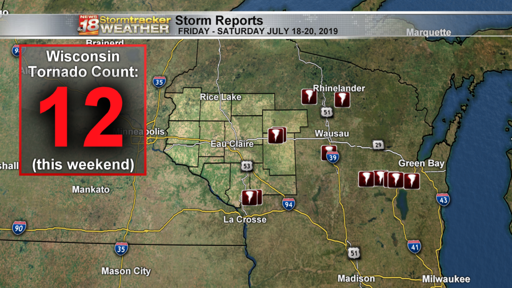 More tornadoes confirmed across Wisconsin from Friday & Saturday