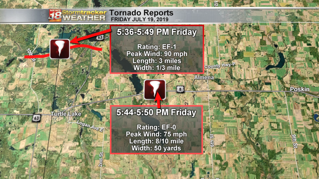 Four tornadoes confirmed in Western Wisconsin Friday night