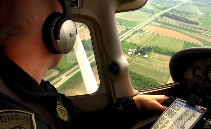 Tuesday: Aerial speed enforcement on 94 in Eau Claire County