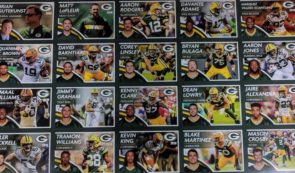 Chippewa Valley officers use Packers trading cards to connect with community