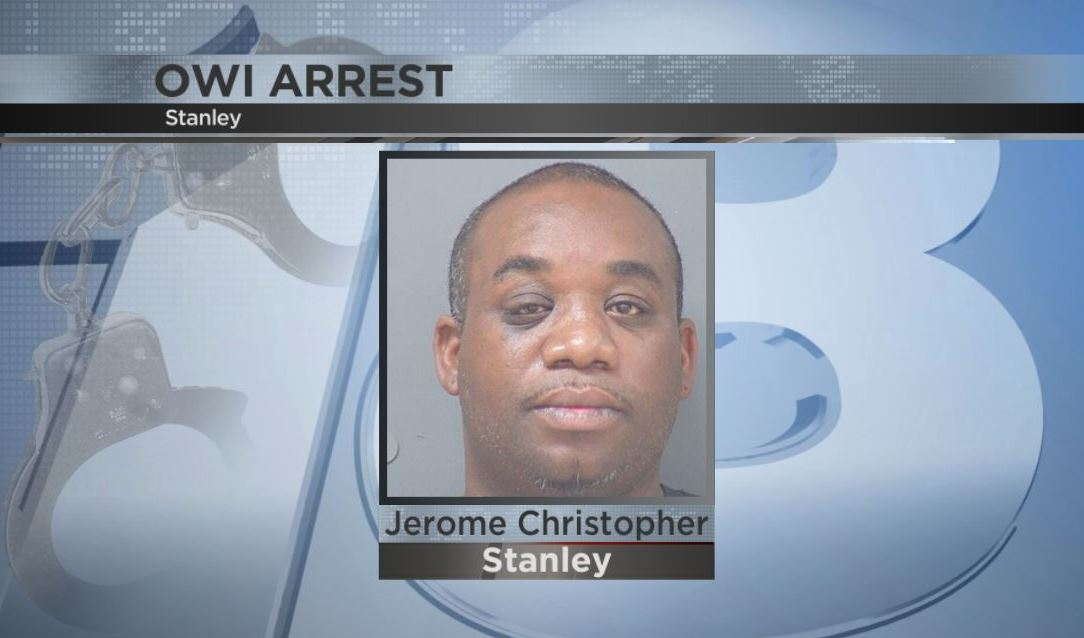 Stanley man arrested for allegedly driving with 0.33 BAC, 2 infants in car