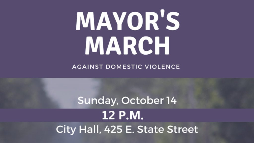 Mayor's March Against Domestic Violence