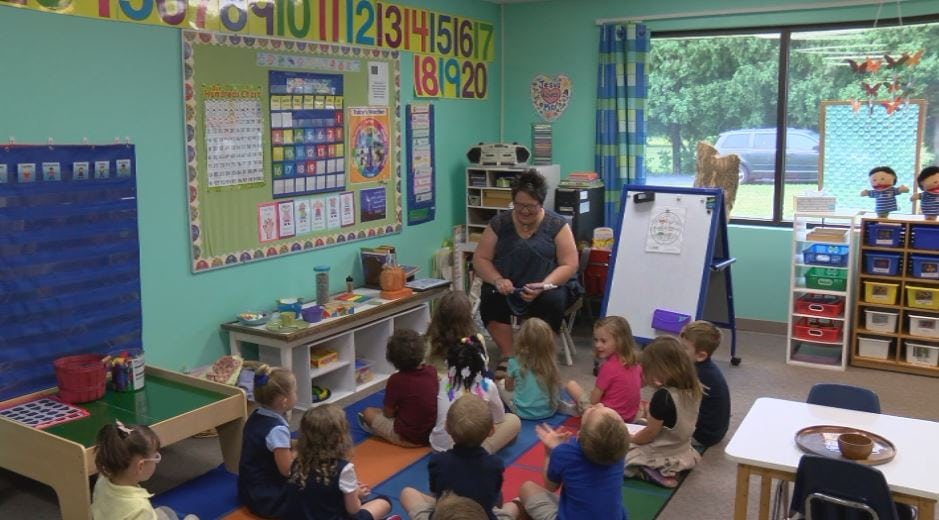 Preschool teacher uses Montessori approach at Concordia Lutheran