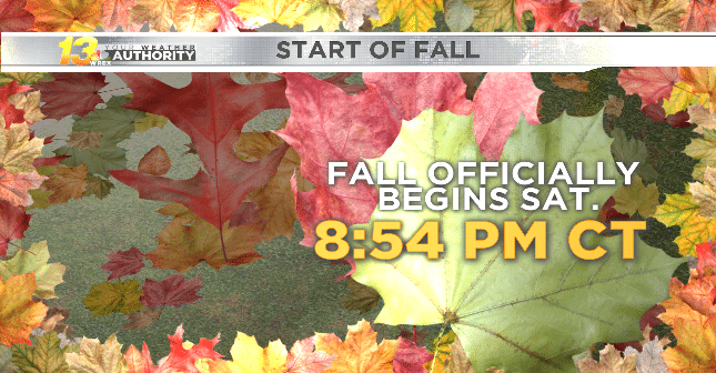 Cool weekend arrives just in time for the start of fall