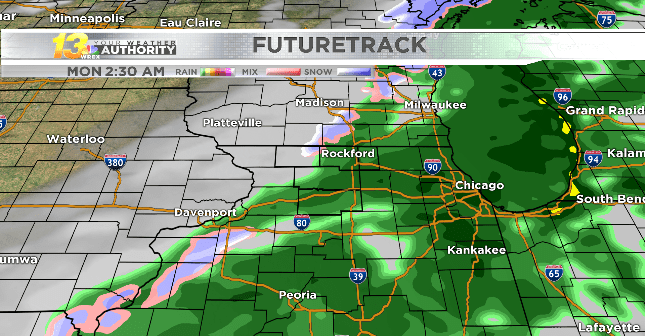Rain returns tonight (and a few snowflakes may pop up too)