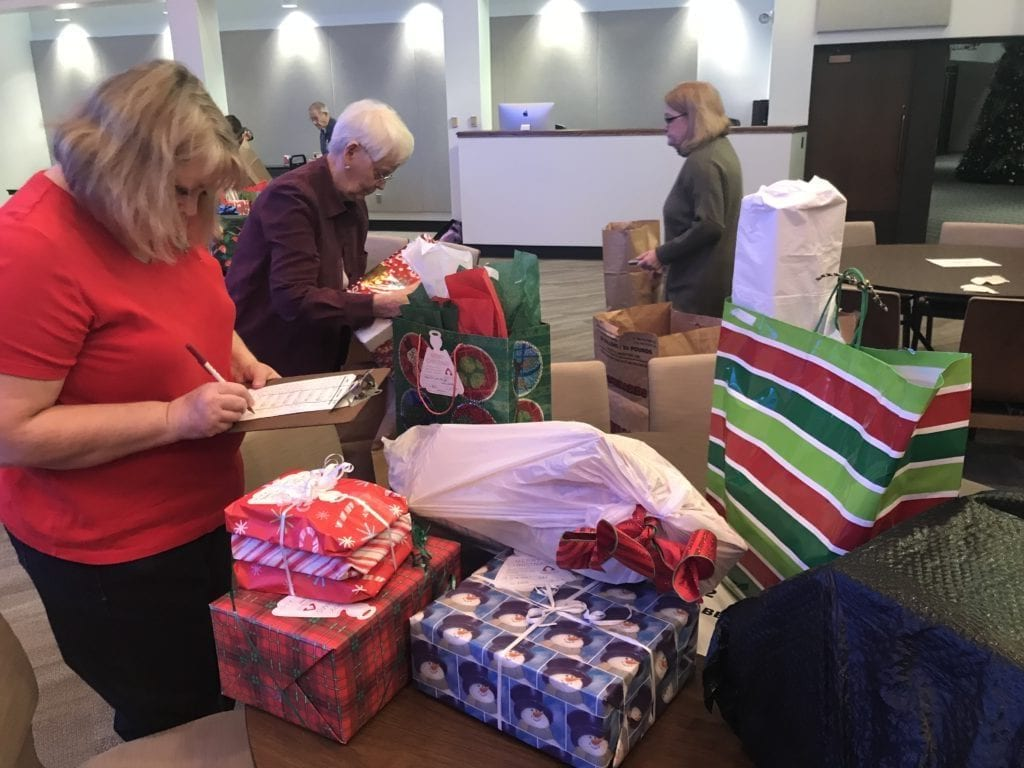 the gifts will be delivered to the families on saturday