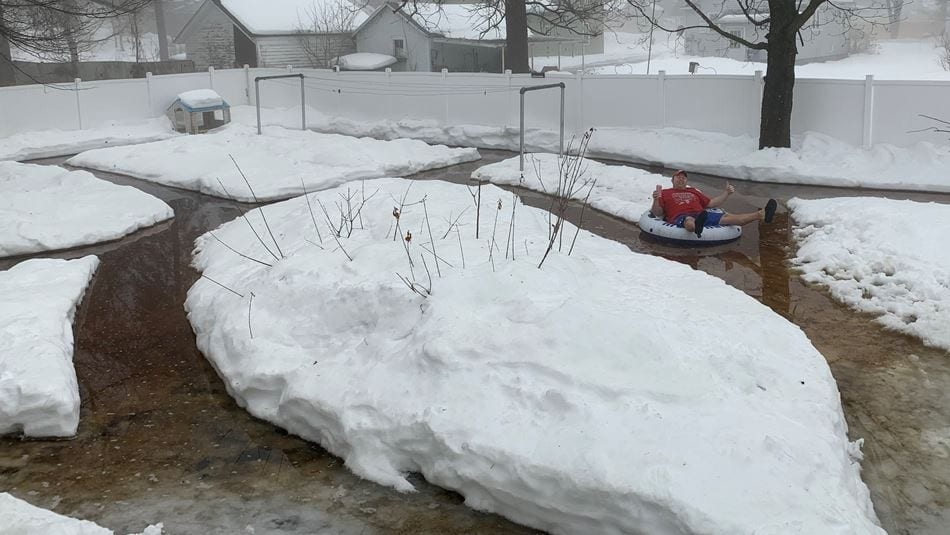 The Northern Wisconsin Dells? Barron man creates lazy river in his backyard