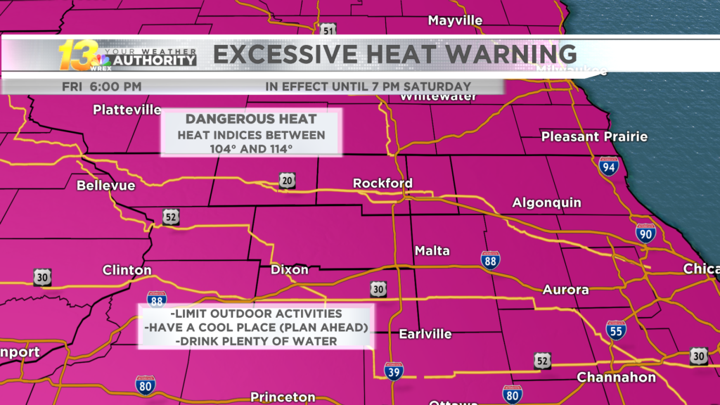 High heat and heavy downpours threaten on Saturday