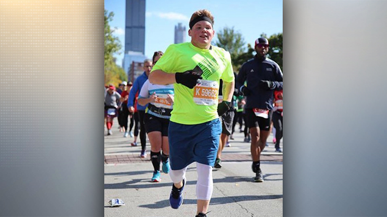 Ethan Taylor continues his weight loss journey by finishing the Chicago Marathon
