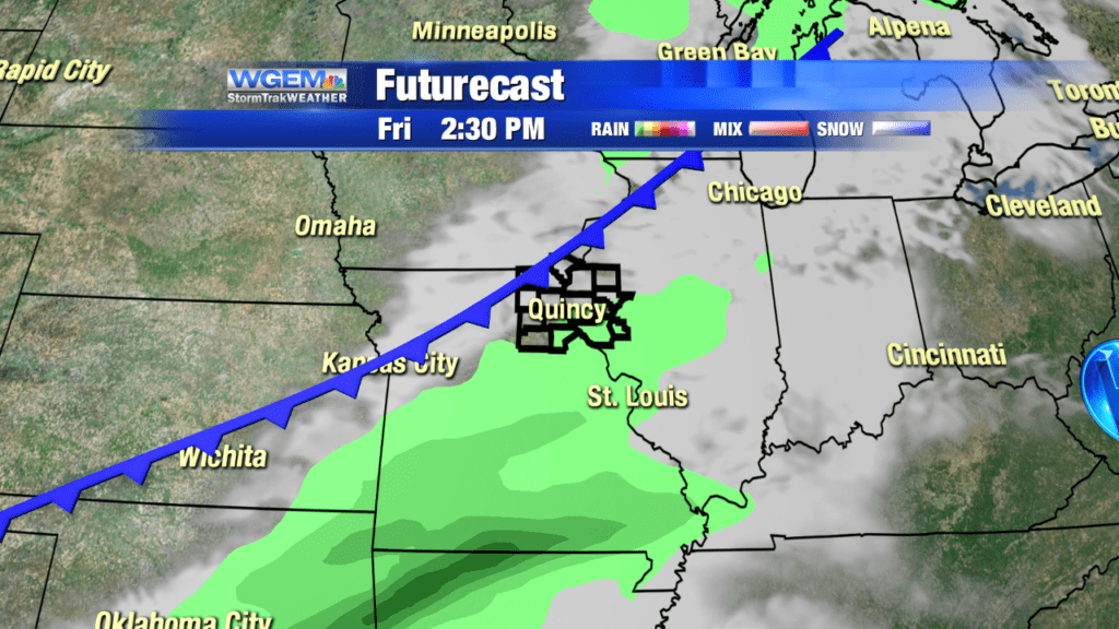 Slightly warmer today; tracking Friday rain chances