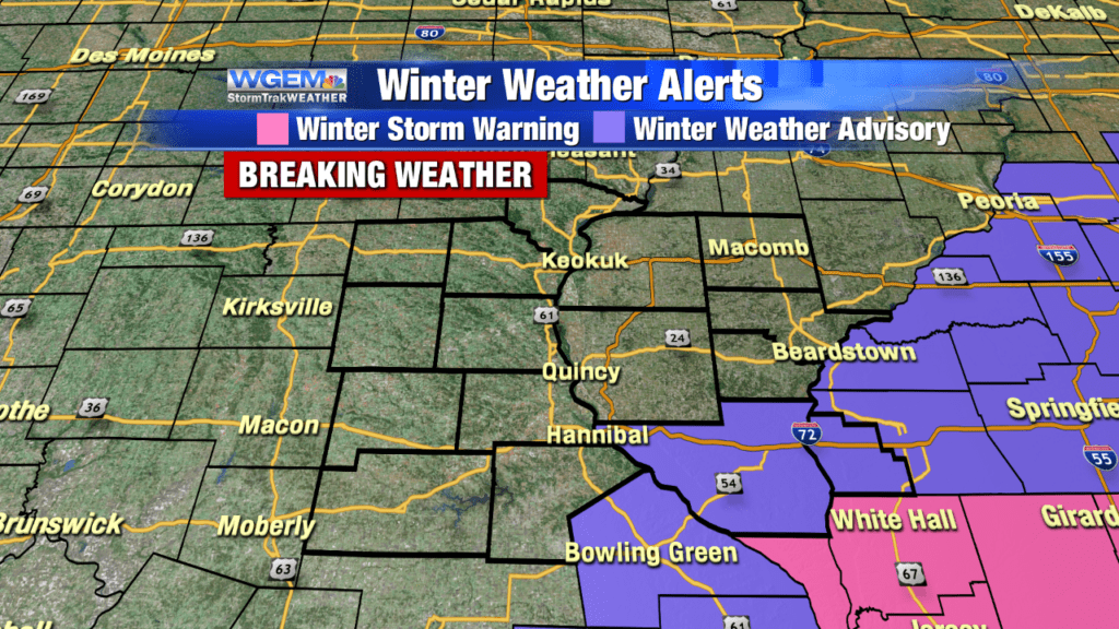BREAKING WEATHER: Heavy snow in parts of the Tri-States