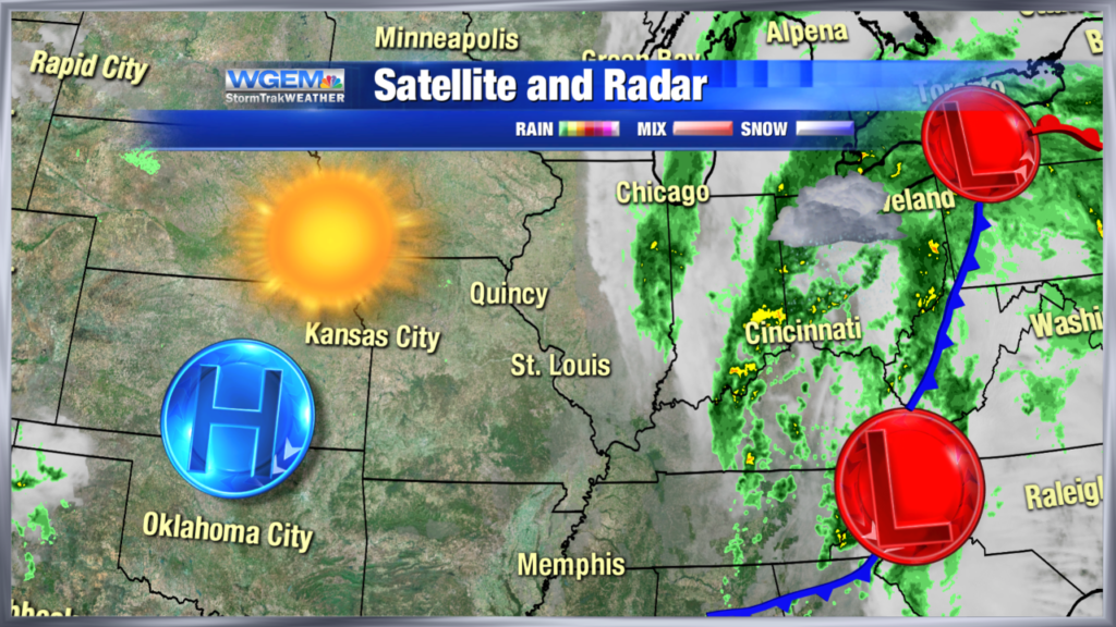 Abundant sunshine today, becoming windy with showers this weekend