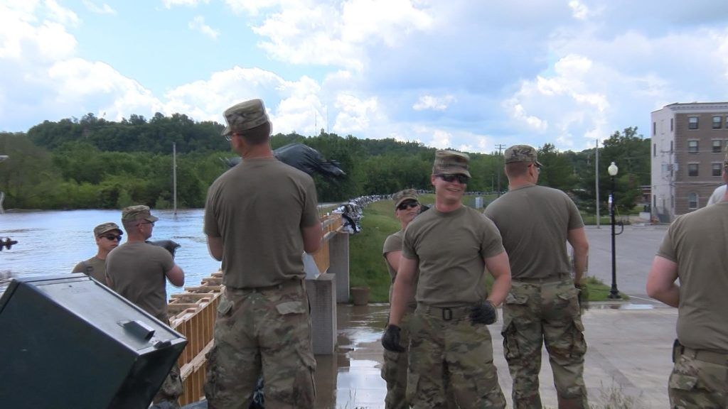 National Guard soldiers finish levee extension in Hannibal