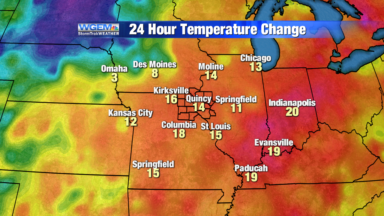 Temperatures slowly on the rise