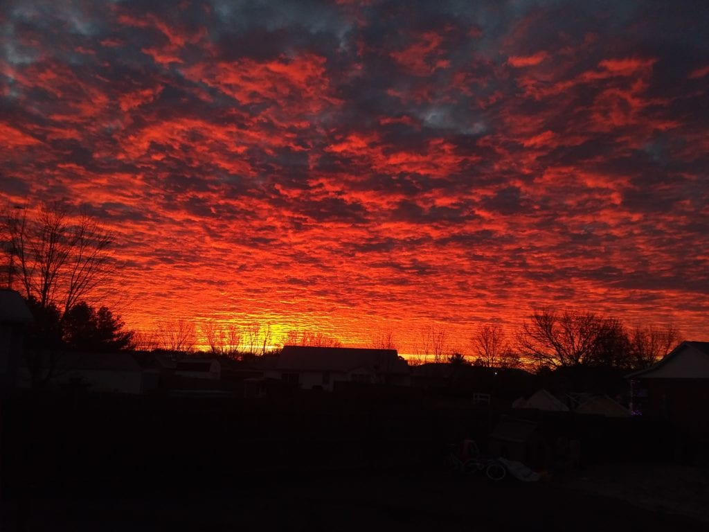 Gorgeous sunrise in Central Illinois