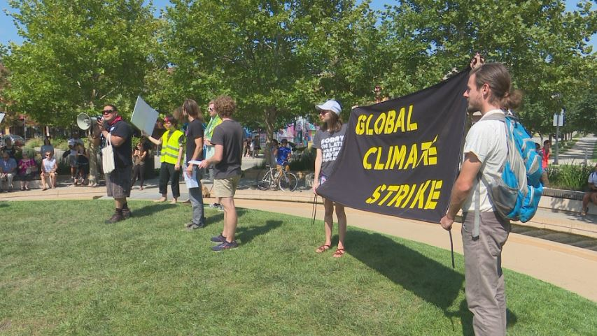 Crowd in Normal joins in Global Climate Strike protests