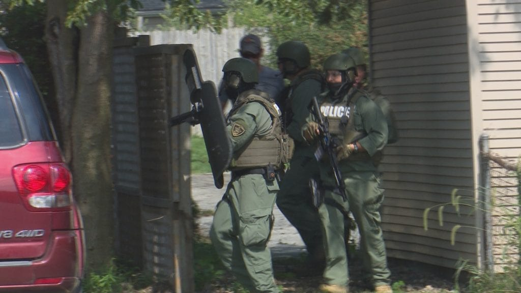 Normal police simulate real-life events during training event