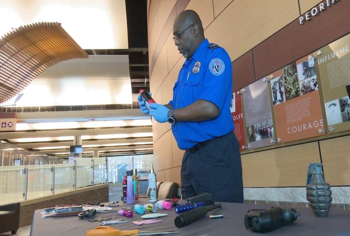 TSA reminds travelers about prohibited items at the airport