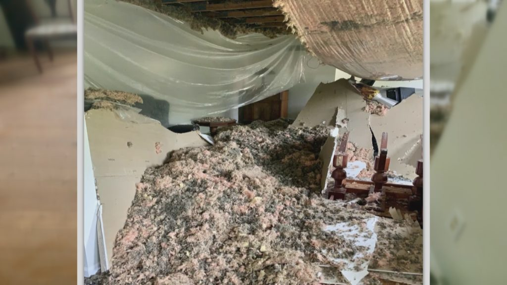 "TROUBLESHOOTERS: Peoria man says State Farm isn't being a ""good neighbor"" after his ceiling collapses"
