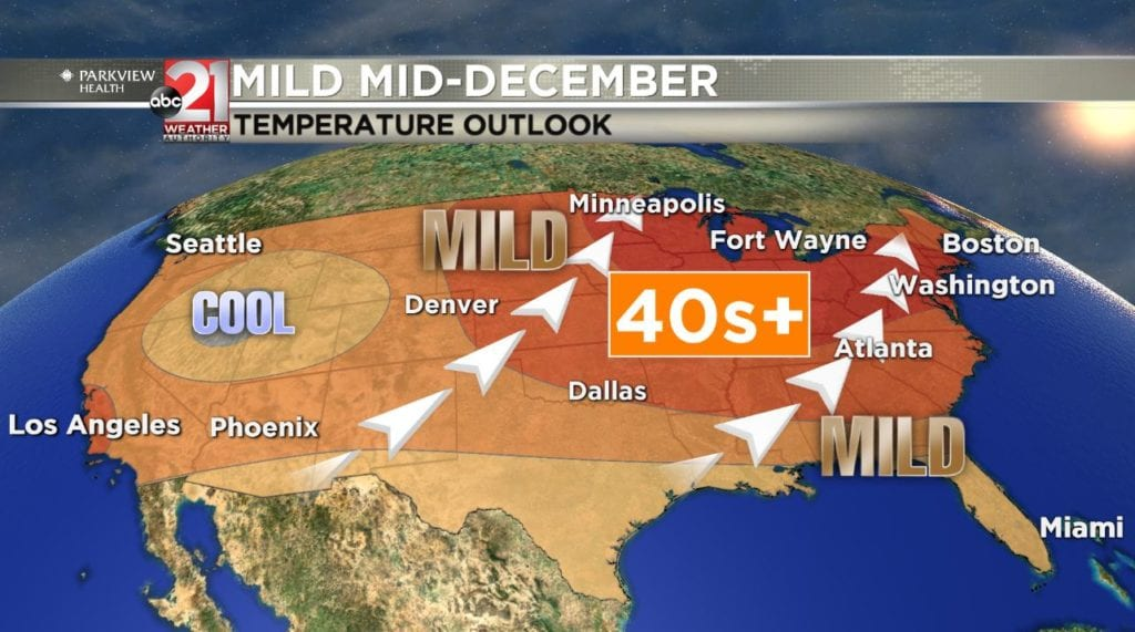 Mild mid-December: Tracking temperatures in the 40s