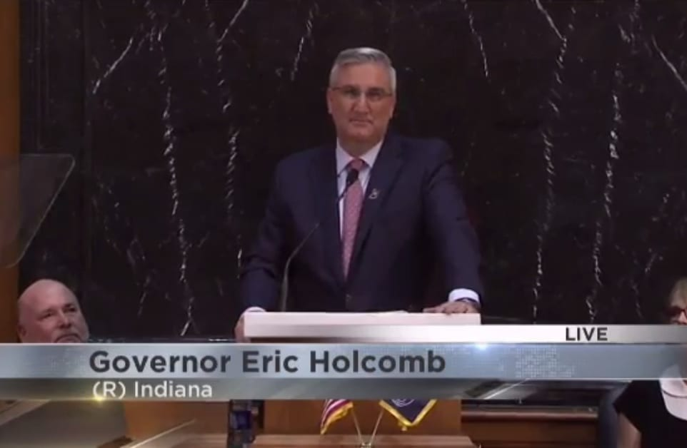 Holcomb presses for infrastructure, education in State of the State Address