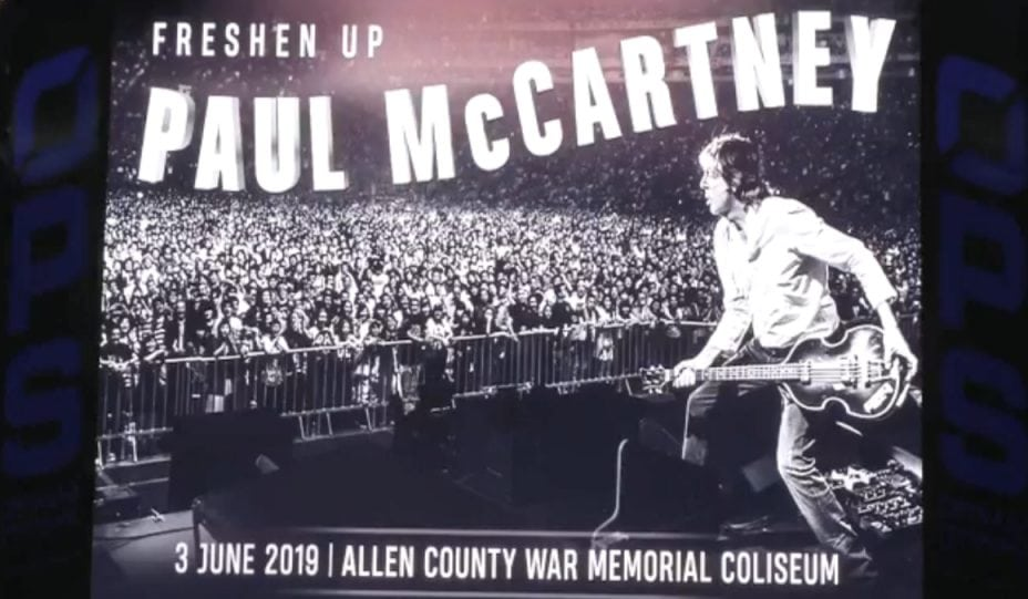 Bildresultat för Allen County War Memorial Coliseum and Paul McCartney