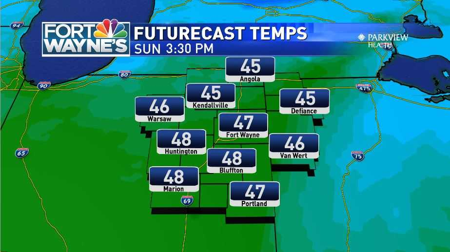 Nice weekend weather remains for Sunday