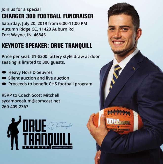 NFL's Tranquill speaking at Charger 300 Football Fundraiser