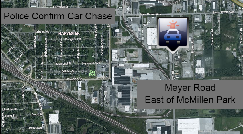 Police confirm chase near McMillen Park area - FORT WAYNES NBC