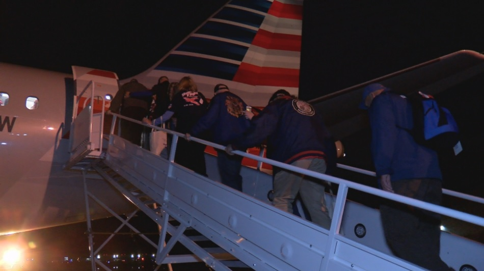Honor Flight 34 took off Wednesday morning honoring our local heroes