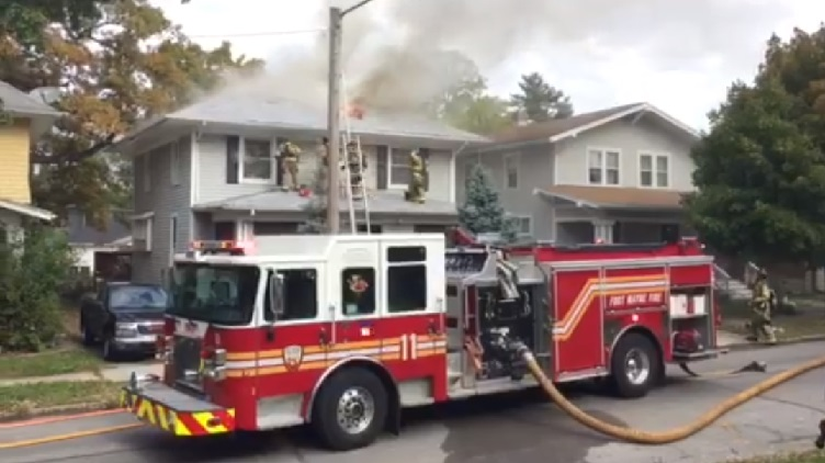FWFD reports extensive damage to vacant W. Packard house in Sunday fire