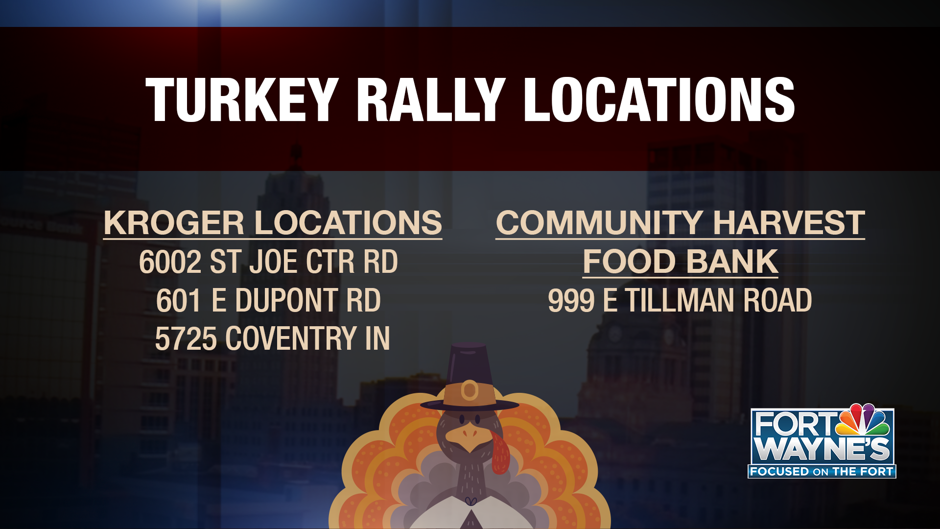 TURKEY RALLY: Here's how you can help families in need this Thanksgiving - FORT WAYNES NBC