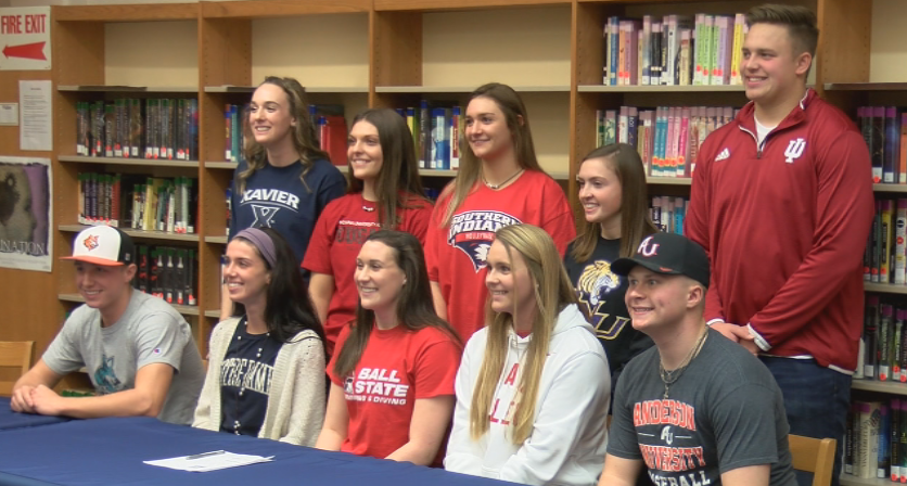 Saints sign National Letters of Intent to play sports in college