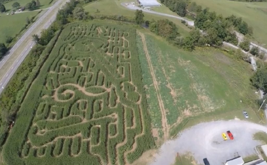 SKY PATROL: Corn Maze at the Crab Orchard Museum
