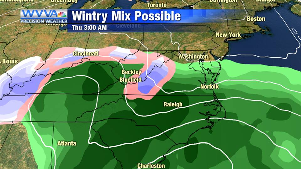 Wintry mix later this week