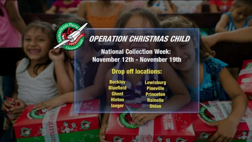 Operation Christmas Child 2018: National Collection Week 11/12-11/19