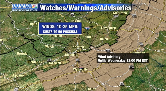 A slick, cold, and windy start to Wednesday - WVVA