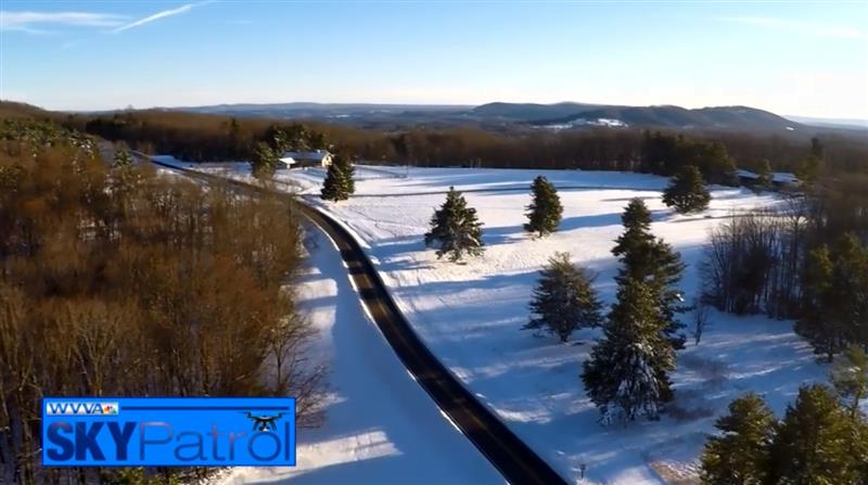 Sky Patrol : Winter scenery at Pipestem State Park