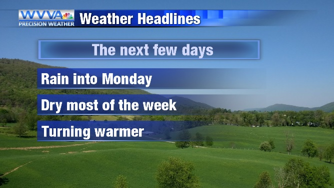 Rain today, but a mainly dry week ahead