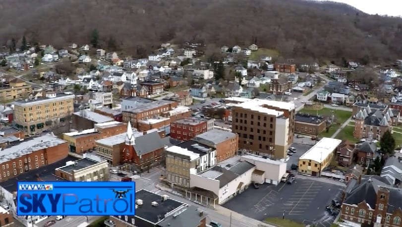 SkyPatrol: Overlooking downtown Hinton, WV
