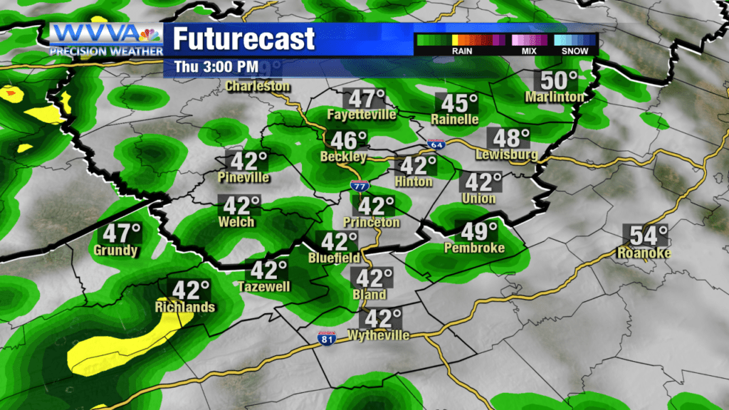 Rain moving in for Thursday