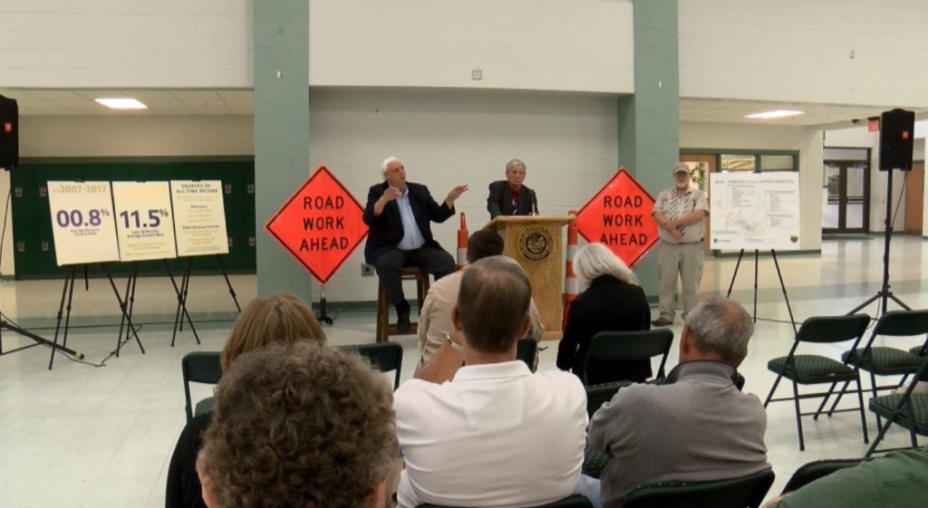 Governor Jim Justice promises Wyoming County residents to finish Route 10 by 2020