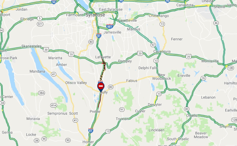 Section of I-81 in Onondaga County reopens - WBNG