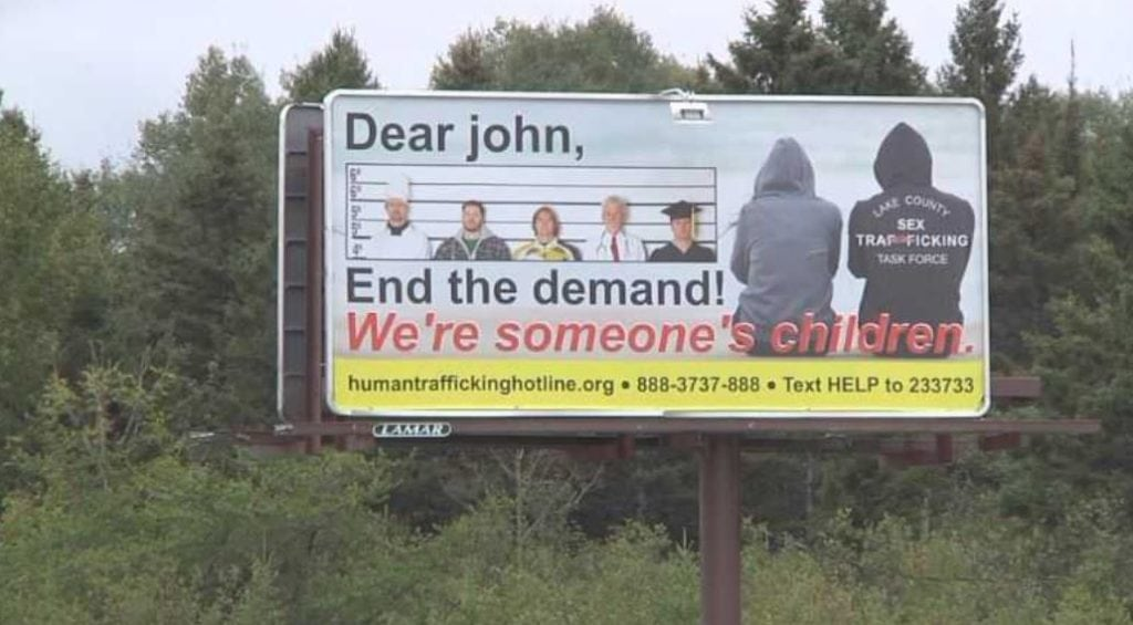 """Highway 61 billboard to """"End the Demand"""" for sex trafficking"""