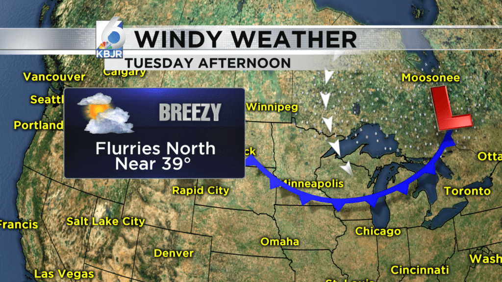 Wind and clouds return tonight/Tuesday.