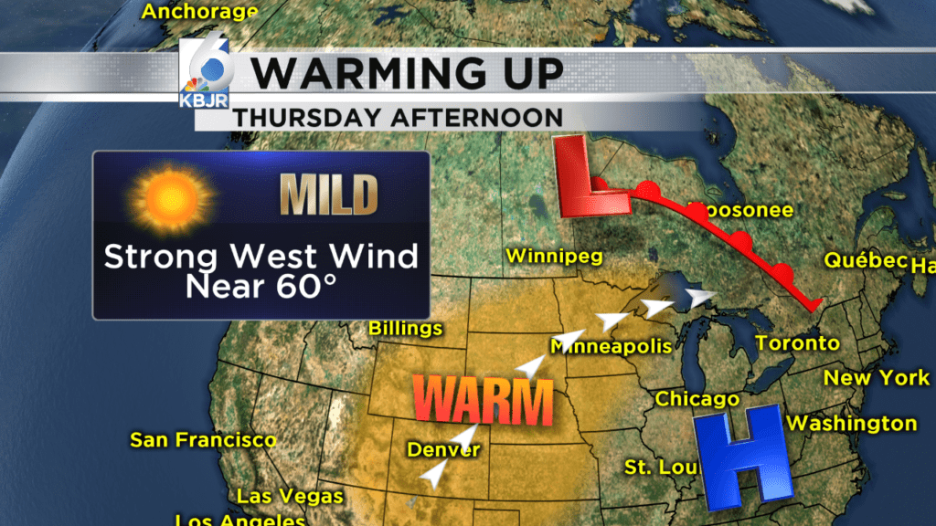 Warming up Thursday, sun will be out too!