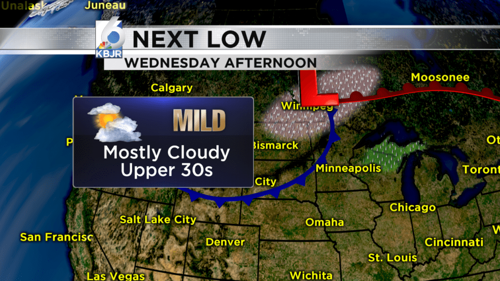 Shower Chance Wednesday afternoon, then freezing rain possible overnight into Thursday!
